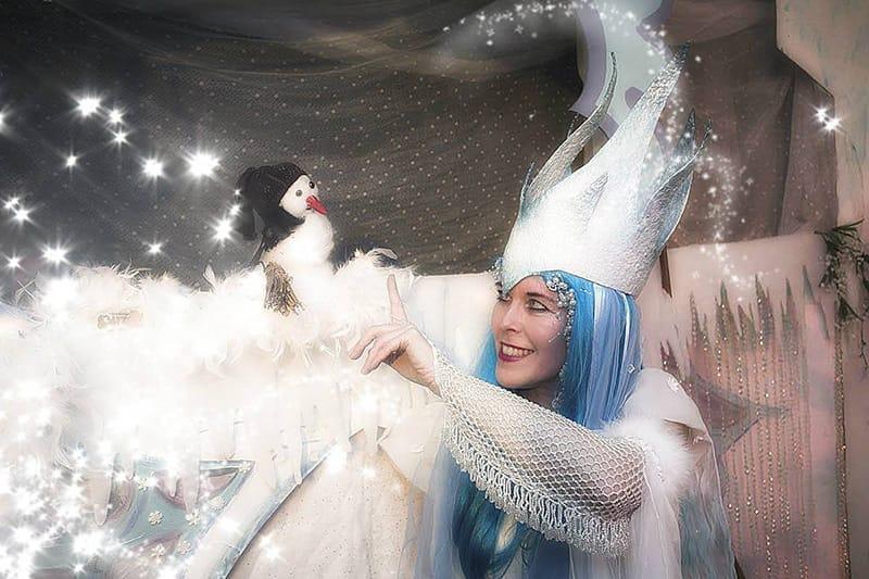 Donderelf poppentheater sneeuwpopje winterfee